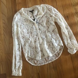 NWT Joe's Lace Button Up Top